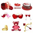 Valentine icons — Vector de stock #34179609