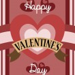 Retro Valentine card design — Vector de stock #36661923