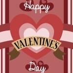 レトロなバレンタイン カードのデザイン — ストックベクタ