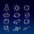 Stock Vector: Astronomy icons