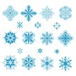 Snow icons — Stock Vector