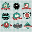 Vintage restaurant labels — Stock Vector
