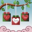 Stock Vector: Valentine card design
