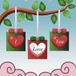 バレンタイン カードのデザイン — ストックベクタ