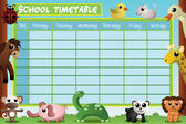 School timetable design — Vetorial Stock