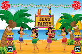 Hawaiian Luau party — Stock Vector