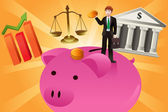 Koncepcja biznesu i finansów — Wektor stockowy