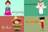 People from different cultures saying hello — Stock Vector