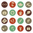 Summer travel icons — Stock Vector