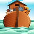 Noahs ark — Stock Vector