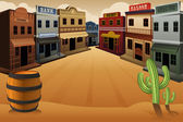 Old western town — Stock Vector