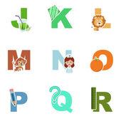 Alphabet illustration — Stock Vector