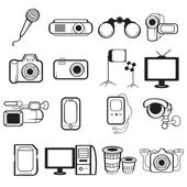 Electronic equipment icons — Stock Vector