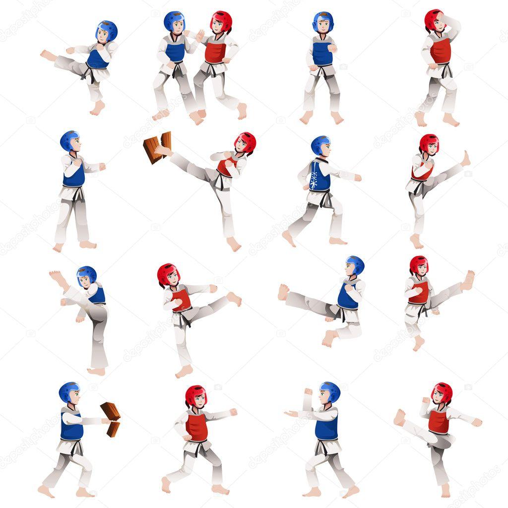 Taekwondo Girl Clip Art