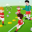 Kids in soccer practice — Stock Vector #41391785