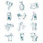 Bathroom icons — Stock Vector #42800457