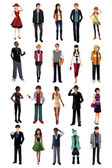 Stylish young people from different ethnicity — Stock Vector