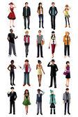 Stylový mladých lidí z různých etnika — Stock vektor