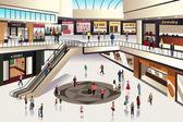 Shopping mall — Stock Vector