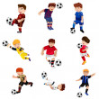Boy playing soccer — Stock Vector #45346521