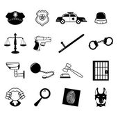Law enforcement icons — Stock Vector