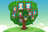 Concept of family tree — Stock Vector