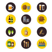 Brewery icons — Stockvektor