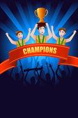チャンピオンのポスター — ストックベクタ