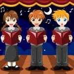 Children singing in a choir — Stock Vector #47446083