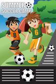 Obóz piłki nożnej — Wektor stockowy