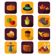 Thanksgiving icons — Stock Vector #49296983