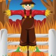 Scarecrow in the Fall season — Stock Vector #49693121
