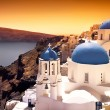 pôr do sol de Santorini — Foto Stock
