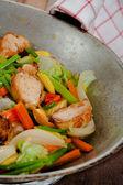 Pollo y vegetales — Foto de Stock