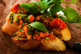 Antipasto bruschetta — Foto Stock
