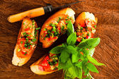 Bruschetta appetizer — Stock Photo