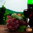Stock Photo: Grape and wine