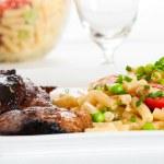 Steak and pasta — Stock Photo #14069989