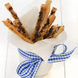 Puff pretzel sticks — Stock Photo