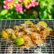Shrimps on barbecue - Stock fotografie