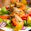 Stock Photo: Shrimps on plate