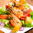 Shrimps on a plate — Stock Photo