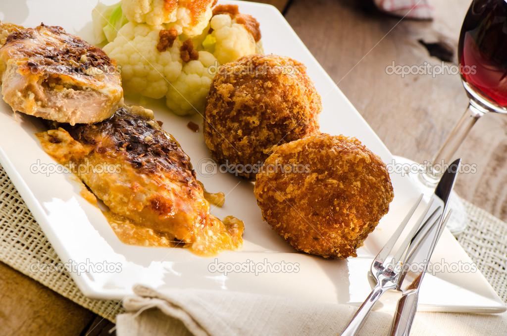 блюда из мяса и цветной капусты