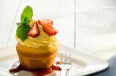 Lemon cupcake — Stock Photo