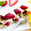 Small strawberry cake — Stock Photo #27236595