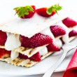 Small strawberry cake — Stock Photo