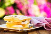 Fresh waffle — Stock Photo