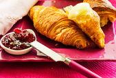 Desayuno croissant — Foto de Stock
