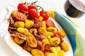 Plate with gnocchi — Stock Photo