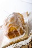 Unleavened Vanilla Glazed Loaf — Stock Photo